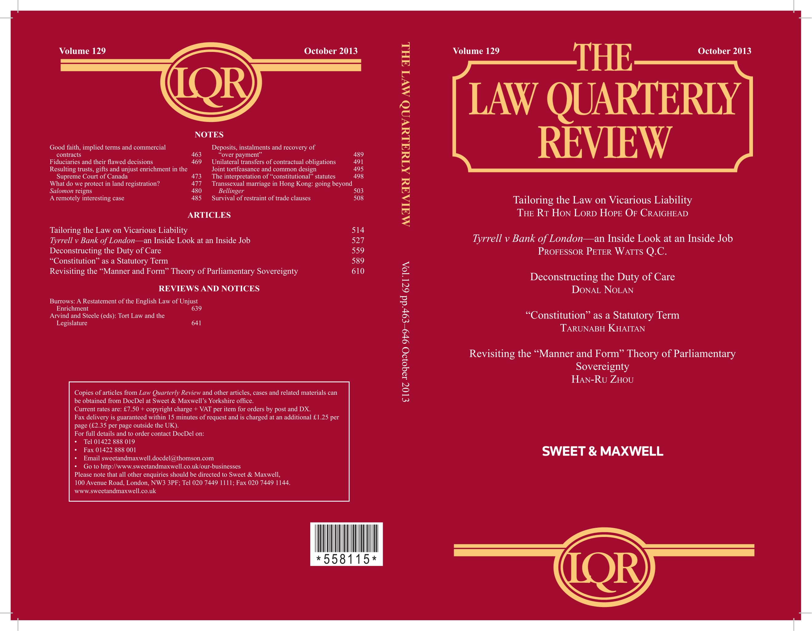 Revisiting The Manner And Form Theory Of Parliamentary Sovereignty